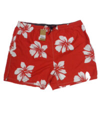 Baileys grote maat zwemsbroek rood met witte bloem print