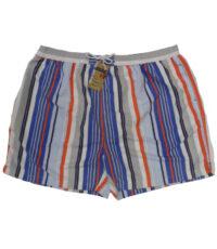 Grote maat zwemshort met binnenbroek blauw, oranje en wit