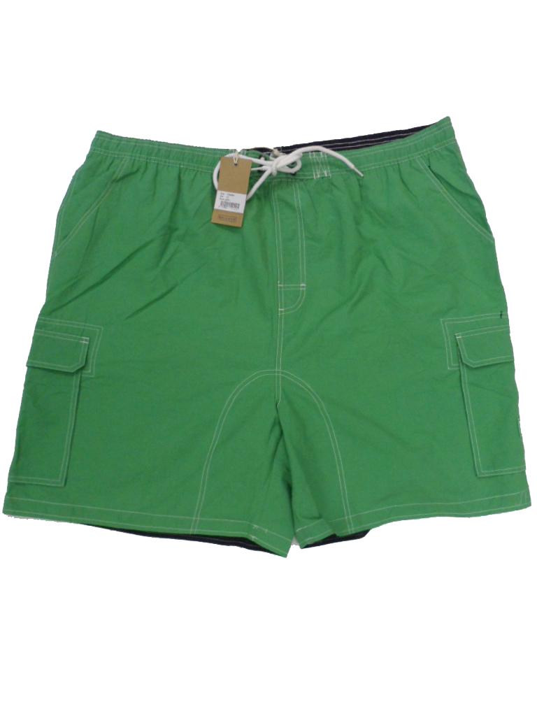 Grote maat zwemshort met binnenbroek uni groen Baileys