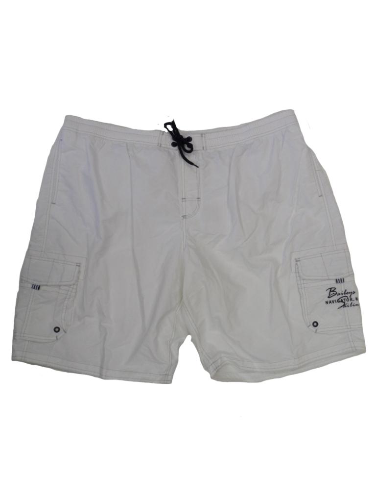 Baileys grote maat zwemshort met gazen binnenbroek uni wit