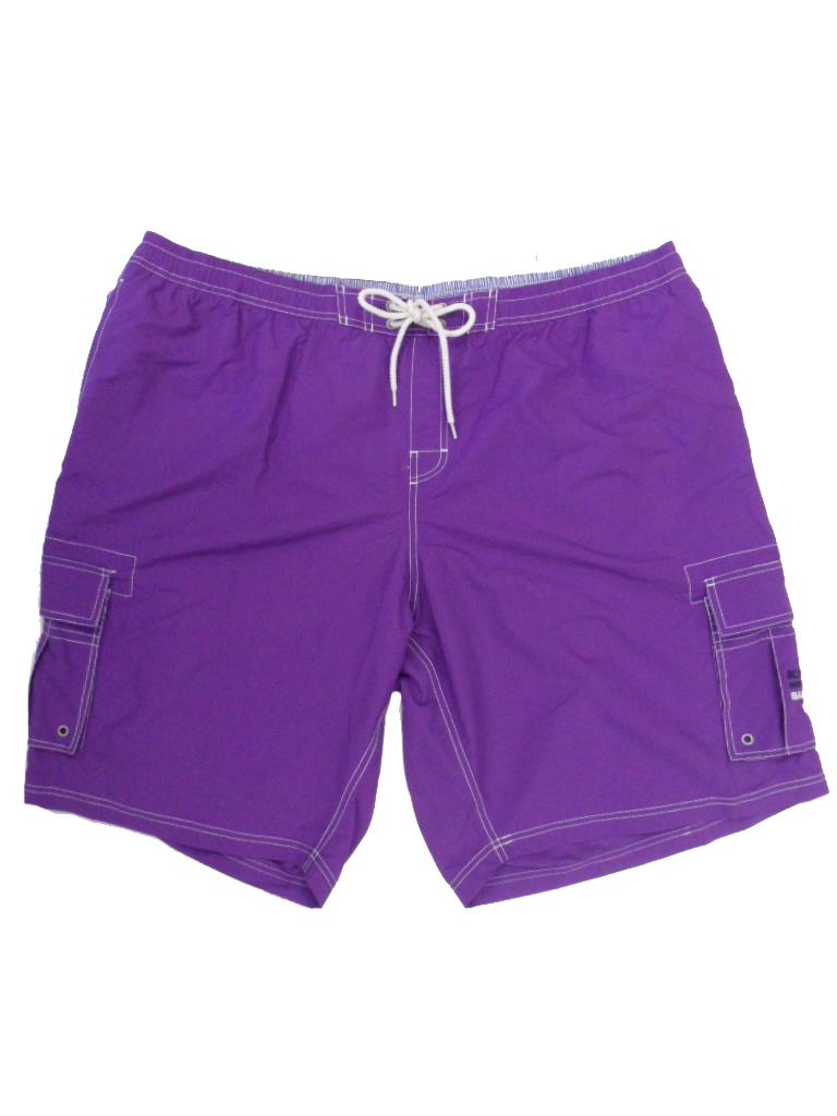 Baileys grote maat zwemshort met zijkant zakken uni paars