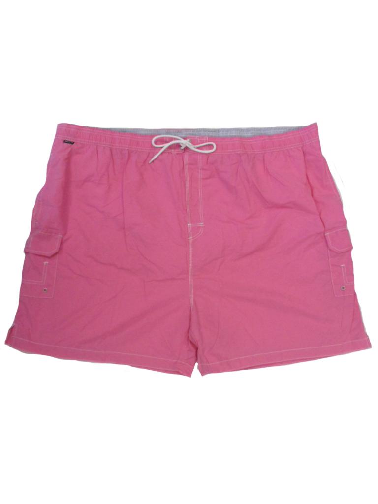 Baileys grote maat zwemshort met zijkant zakken uni roze