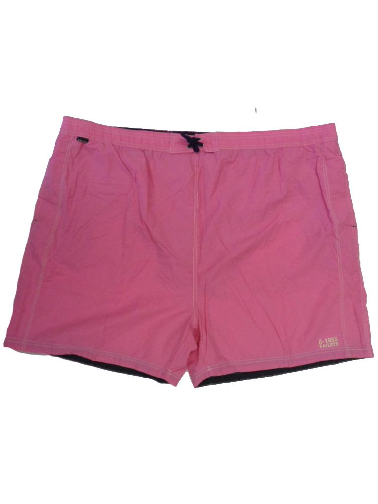 Baileys grote maat zwemshort met binnenbroek uni roze