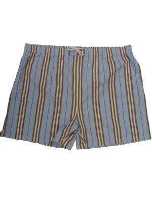 Baileys grote maat zwemshort blauw, bruin met witte lengtestreep