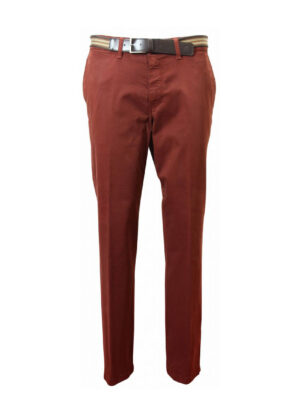 Grote maat casual stretch chino LCDN bruin