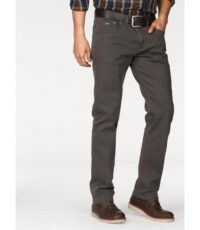 Pionier casual lengte maat stretch jeans antracietgrijs model Marc