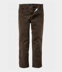 Pionier grote maat stretch jeans bruin model Peter