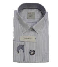 Casa Moda overhemd extra lange mouwlengte7 grijs en witte lengtestreep