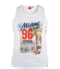 D555 grote maat mouwloos t-shirt off white Miami Florida