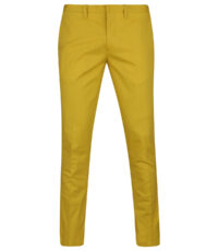 Club of comfort 38inch beenlengte maat stretch chino okergeel