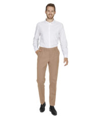 Club of comfort grote maat stretch pantalon beige