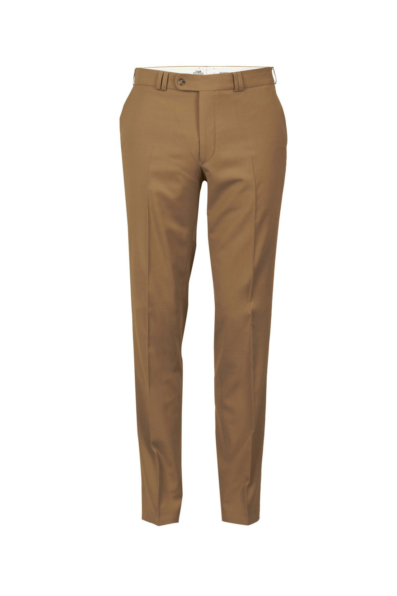 Club of comfort lengte maat stretch pantalon beige