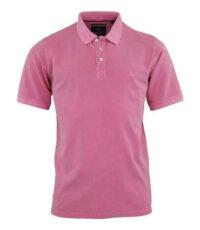 Casa Moda grote maat korte mouw poloshirt uni vintage roze