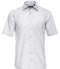 Casa Moda grote maat overhemd korte mouw uni lichtgrijs strijkvrij