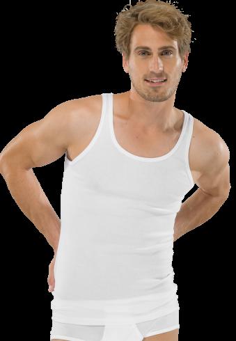 Schiesser grote maat heren onderhemd wit
