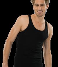 Schiesser grote maat heren singlet onderhemd zwart