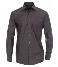 Grote maat Casa Moda overhemd lange mouw uni antracietgrijs strijkvrij