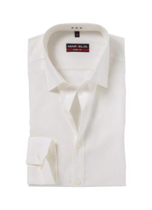 Marvelis grote maat overhemd uni ecru 100% katoen strijkvrij