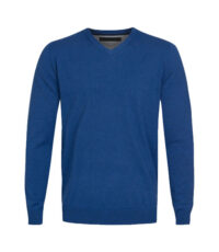 Danilo grote maat v-hals trui blauw