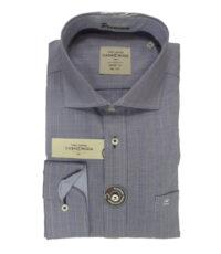 Casa Moda overhemd extra lange mouwlengte7 blauw geruit 100%katoen strijkvrij