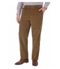 Skopes grote maat stretch corduroy pantalon camel u-band