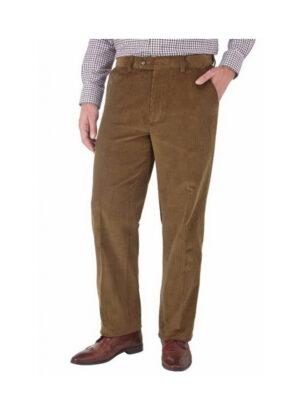 Skopes grote maat stretch corduroy pantalon camel u-band