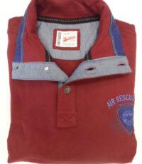 Redfield grote maat sweater trui bordeauxrood met sportieve applicatie
