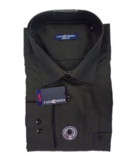 Casa Moda overhemd extra lange mouwlengte7 uni bruin 100%katoen strijkvrij