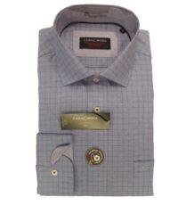 Casa Moda overhemd extra lange mouwlengte7 lichtblauw ruitje strijkvrij