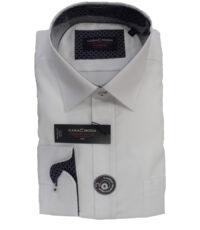 Casa Moda overhemd 72cm mouwlengte7 wit 100% katoen strijkvrij