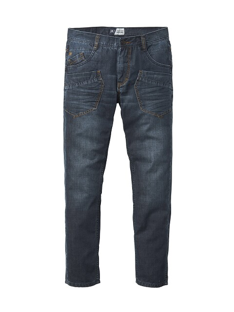 24/7 extra lange spijkerbroek worker jeans in stonewashed of darkstonewashed