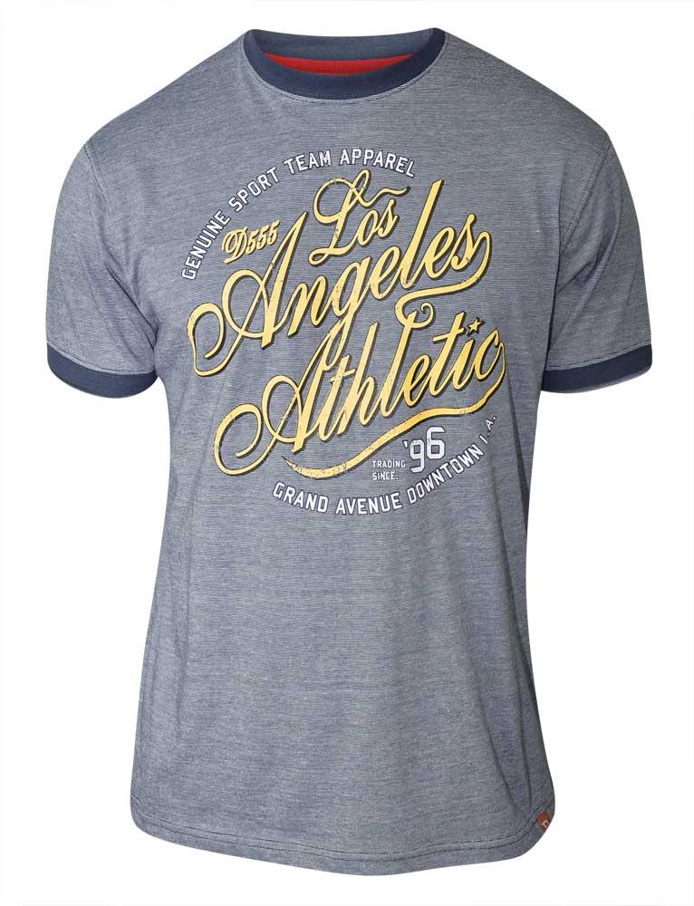 D555 t-shirt grote maat blauw Los Angeles