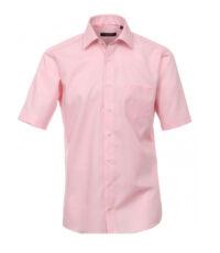 Casa Moda grote maat overhemd korte mouw uni roze strijkvrij