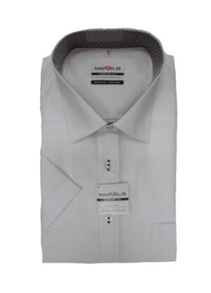 Marvelis grote maat overhemd korte mouw wit strijkvrij