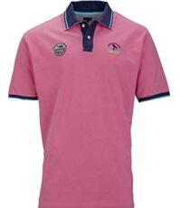 Kitaro grote maat poloshirt korte mouw roze en blauw