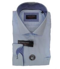 Casa Moda overhemd 72cm mouwlengte7 lichtblauw 100% katoen strijkvrij