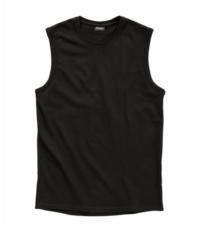 Redfield grote maat mouwloos t-shirt zwart