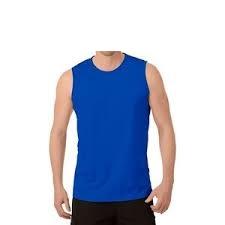 Redfield grote maat mouwloos t-shirt deepaqua