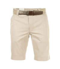 M.e.n.s. grote maat stretch korte broek lichtbeige Inclusief riem