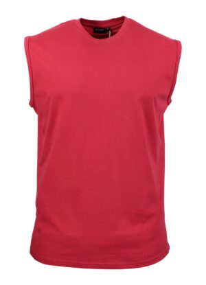 Redfield grote maat mouwloos t-shirt rood