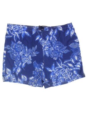 Zwemshort grote maat blauwe bloem print Baileys