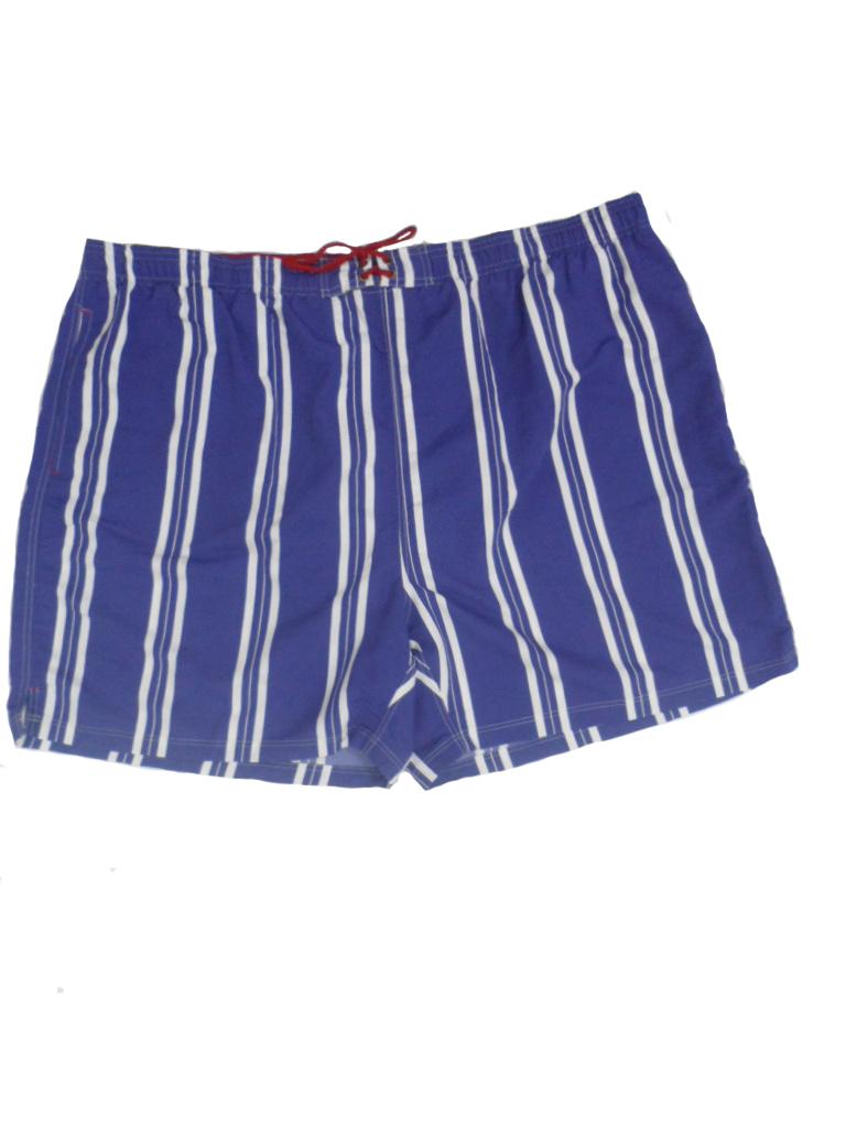 Baileys grote maat zwemshort blauw met witte lengte streep