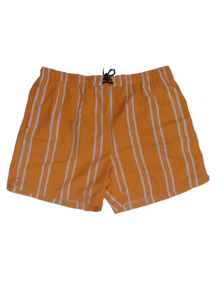 Baileys grote maat zwemshort oranje met witte lengte streep