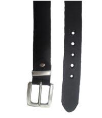 Extra lange riem zware kwaliteit leren riem 4cm breed zwart