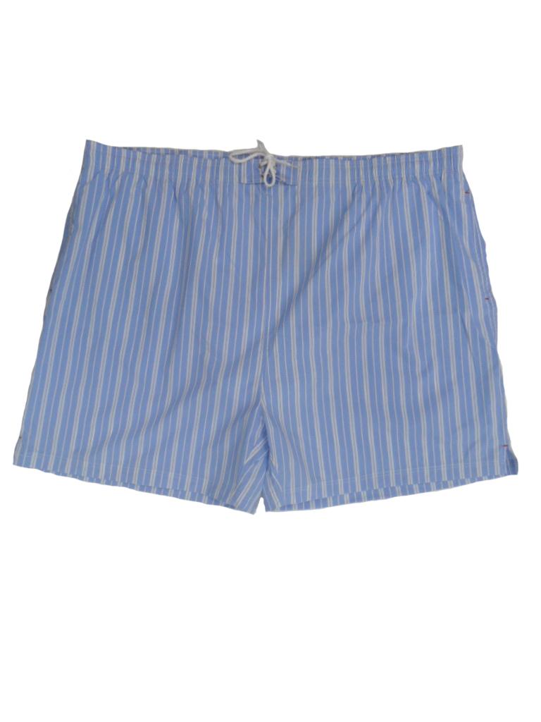 Baileys grote maten zwemshort lichtblauw en witte lengte streep