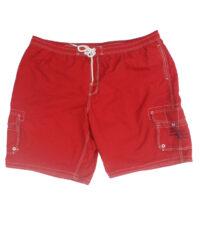 Baileys grote maat zwemshort rood met zijzakken