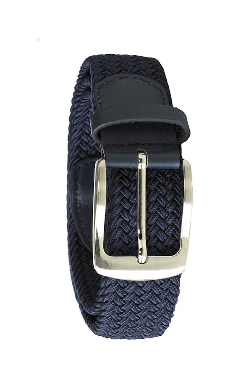 D555 extra lange grote maat stretch riem donkerblauw