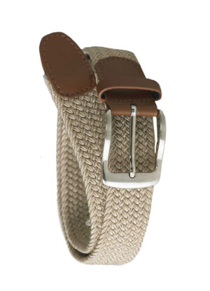 D555 extra lange grote maat stretch riem beige