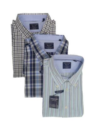 SALE Today's man overhemden met korte mouw 3 stuks