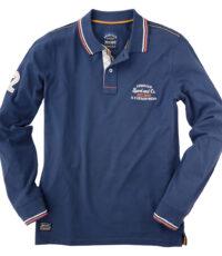 Grote maat poloshirt lange mouw blauw American sport Redfield